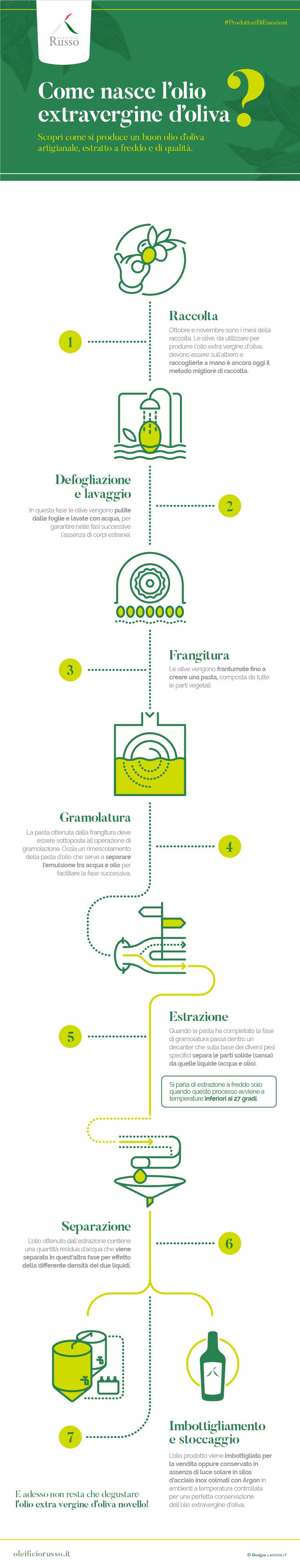Come si produce l'olio extra vergine d'oliva